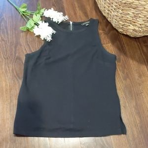 Career black sleeveless knit top